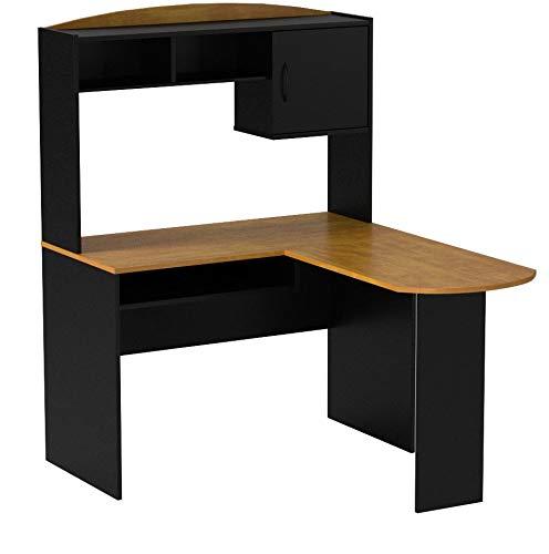 Computer Desk Corner L-shaped Ergonomic Study Table Hutch Home Office