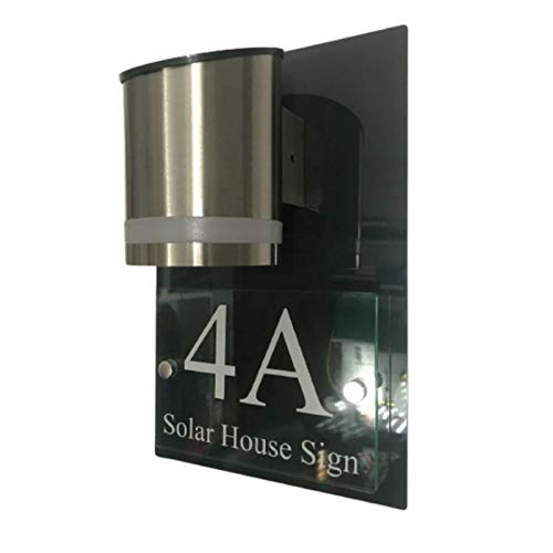 Be-Creative Placa para puerta de la casa moderna con placa de la parte trasera gris