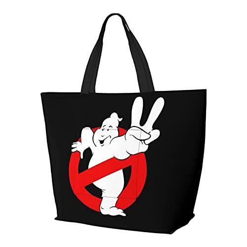 Ghostbusters - Bolso de mano con asa de hombro, estilo sencillez, gran capacidad, bolsa de compras, gimnasio, playa, viajes, unisex, plegable
