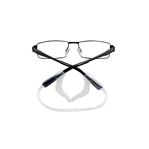 Gafas Ear Grips ganchos de silicona elástica antideslizante cómodo para evitar que las gafas se resbalen, accesorios de repuesto para gafas de sol Spectacles (color blanco)