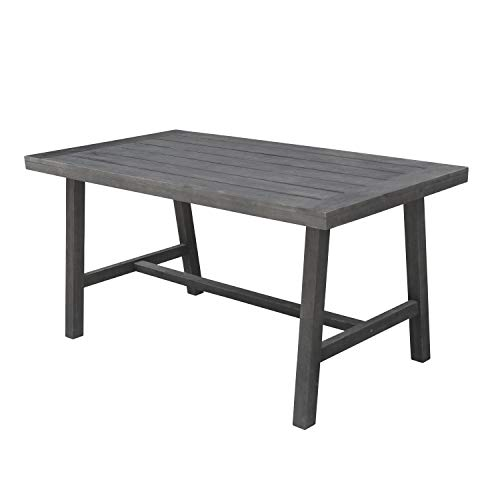 Vifah V1819 Renaissance Outdoor Patio Picnic Dining Table, Hand-Scraped Hardwood