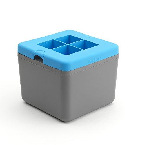 True Cubes Bac à glaçons transparent : 4 glaçons.
