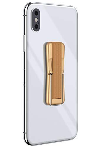 ONEFLOW® ClipGrip - Handy Fingerhalterung mit Ständer für alle Vernee Handys | Handyständer Ring Finger Halter Handyring Selbstklebend, Gold