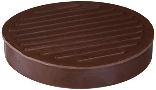 Shepherd Hardware 9067 Round Rubber Furniture Cups 2 Pack 3quot Brown