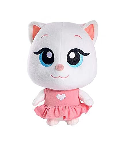 Ceomate 11inchPlush Toy cat Cute Angela (Angela) cat Talking Tom (Tom) and Friends Stuffed Animal Dolls, Used for Children's Christmas Birthday Gifts (Non-Voice)