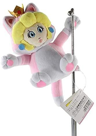 Super Mario Pink Cat Princess Plush Toy-Soft Plush Doll Cute Plush Home Decoration Gift Aproximadamente 18cm