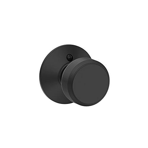 Bowery Knob Non-Turning Lock, Matte Black (F170 BWE 622)