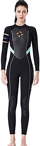 Traje de Neopreno para Mujer, Traje de Neopreno Completo de 3 mm, Trajes de Buceo de Manga Larga, Traje de baño para Nadar, bucear, Surf, Kayak, esnórquel (Color : A, Size : L)