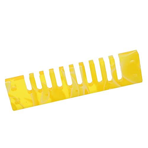 口オルガンコンボパーツ、ブルース人間工学に基づいたハーモニカコーム音楽プレーヤー向けデラックス用 用マリンバンドクロスオーバー用の優れたタイトネス(黄)