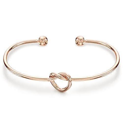 14K Gold Plated Forever Love Knot Infinity Bracelet