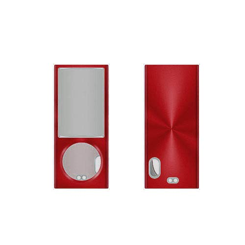 Apple iPod Nano 5th Gen 2 Piece Snap On Hard Case Cover Screen Protector Guard (Red)