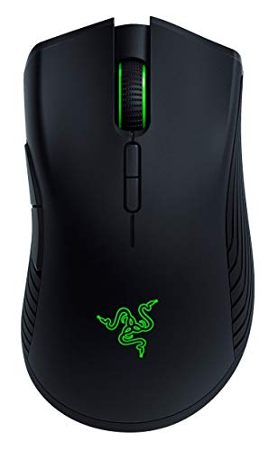 Razer Mamba Wireless Gaming Mouse: 16,000 DPI Optical Sensor - Chroma RGB Lighting - 7 Programmable Buttons - Mechanical Switches - Up to 50 Hr...