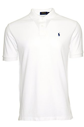 Polo para hombreRalph Lauren envarios colores disponibles–Talla Clásica Blanco blanco X-Large