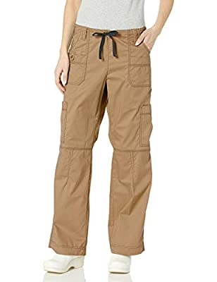 Dickies Women's Size GenFlex Cargo Scrubs Pant, Khaki, X-Small Tall