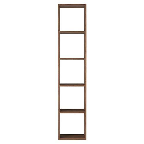 無印良品 スタッキングシェルフ・5段・ウォールナット材 幅42×奥行28.5×高さ200cm 37265646(設置・組立・引き取りあり ※一部地域のみ)