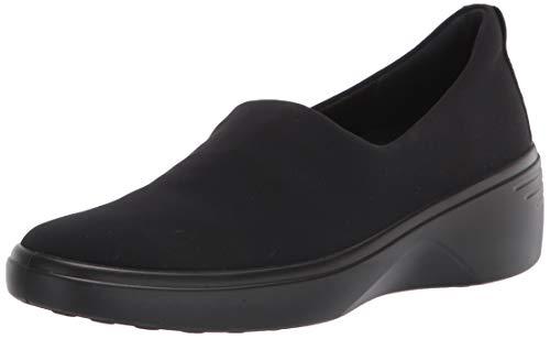 ECCO Damen Soft 7 Wedge Sneaker Slipper, Black, 39 EU
