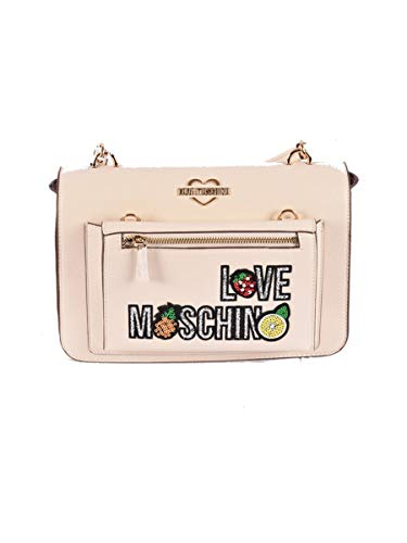 Love Moschino Borsa 4278PP07 S91 110 Avorio, Taglia Unica