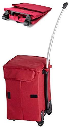 Carro de la compra multiusos plegable Smart Cart Camping rojo