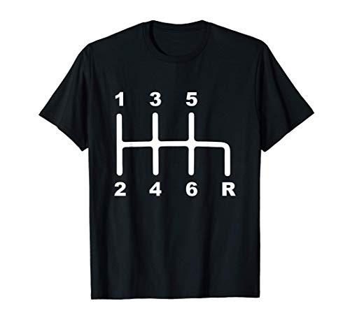 6 Speed Manual Transmission Shift Pattern Car T-Shirt
