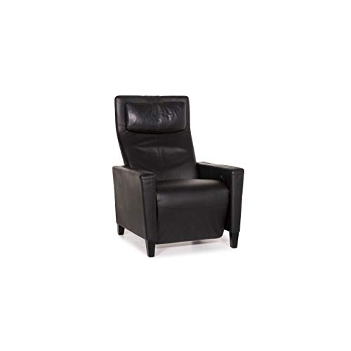 Walter Knoll leather armchair black relax function function