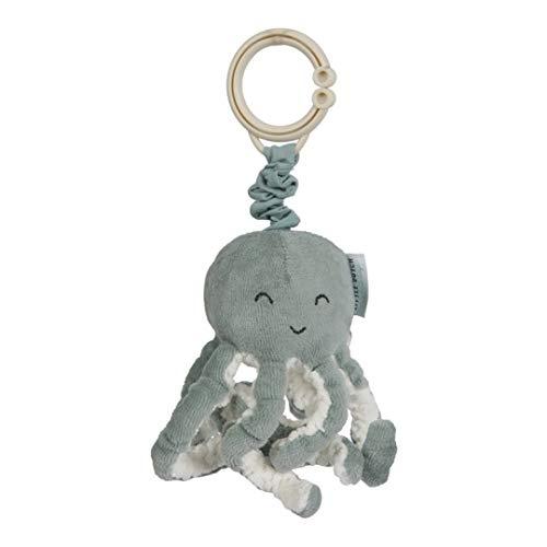 Little Dutch 4820 Stoff Aufziehtier Oktopus Tintenfisch Spielzeug für die Babyschale / den Kinderwagen Ocean Mint 7x7,5x18 cm