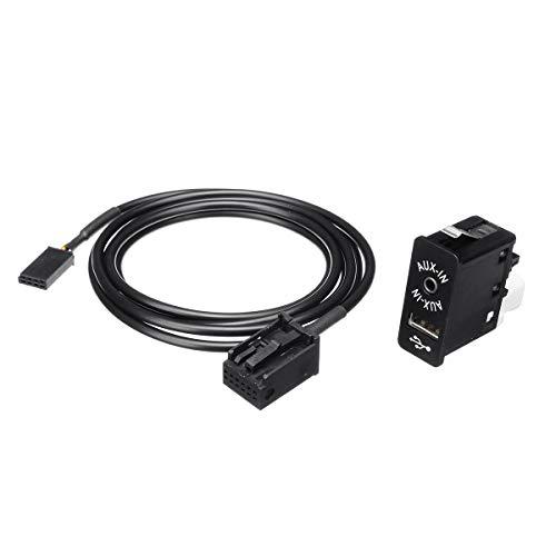 Viviance Adattatore Pannello interfaccia USB AUX Bluetooth 3.5mm 12 Pin per BM-W Mini Cooper E39 E53 X5 Z4 E85 E86 X3 E83