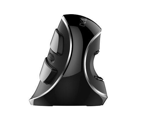 Game Titan Ratón M618+ Vertical ergonómico inalámbrico Delux Gris