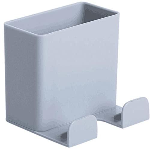 Aidou Caja de almacenamiento de control remoto para teléfono móvil montado en la pared Soporte de carga para teléfono móvil, caja de almacenamiento para uso en el hogar y la oficina