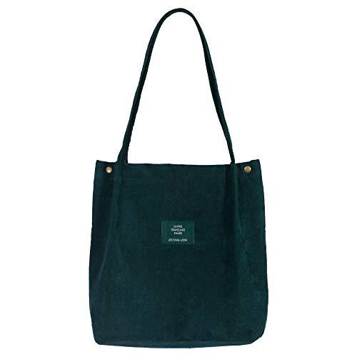 Eflying Lion Cord Schultertasche Damen Lässige Handtasche Mädchen Einkaufstasche Faltbar