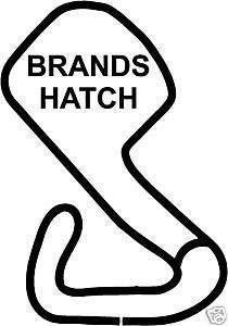 Online Design Brands Hatch Rennstrecke Sticker Auto Track Gp F1 - Schwarz