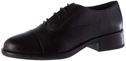 Geox D RESIA L, Oxford Piatto Donna, Black, 39 EU