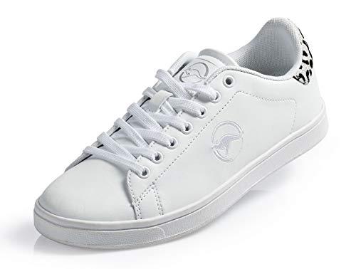KangaROOS Damen Sneaker Freizeitschuhe Turnschuhe Schuhe Laufschuhe weiß Silber (39 EU)