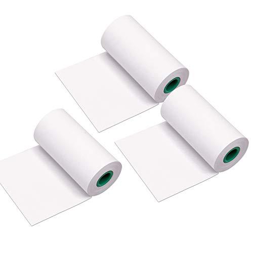 Aibecy Peripage Papierrollen 10 Jahre langlebige Thermopapierrolle 56 * 30 mm BPA freie schwarze Schrift für PeriPage A6 / A8 / P6 Paperang P1 / P2 Thermodrucker