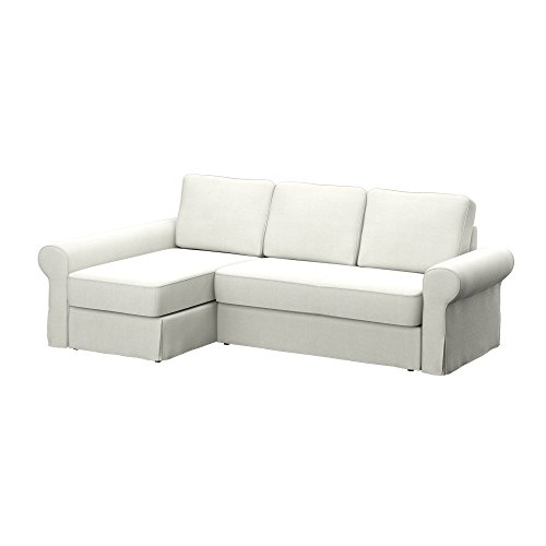 Soferia - IKEA BACKABRO Funda para sofá con chaiselongue, Elegance Ecru