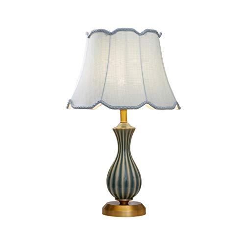 YIFEI2013-SHOP Lámpara de Mesa Lámpara de Mesa de cerámica clásica de Lujo, lámpara de Noche Creativa del Dormitorio, iluminación casera de la decoración Lámpara Escritorio (Color : Dimmer Switch)