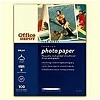 Office Depot High Gloss Premium Photo Paper, 8.5 x 11 inches, 100 Sheets (936-392)