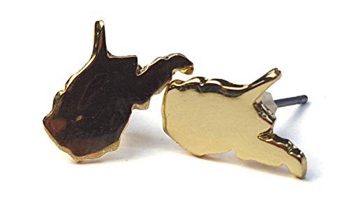 Nitro USA NCAA West Virginia Mountaineers Women's Mini Pierced Earring, One Size, Gold
