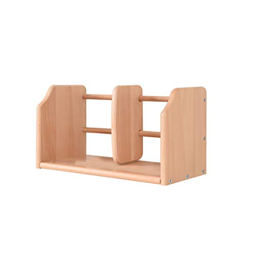 Kreatives Büro-Studenten-Multifunktionskleines Bücherregal, einfaches Vollholz-Vollenden-Desktop-Lagerregal (Größe : 60 * 20 * 22cm)