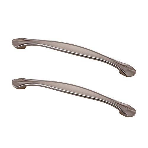 Kenfun Manijas de armario de cocina 2 piezas sencillas para armario zapatero cajón tirador de puerta de cajón tirador de muebles herrajes adecuados para bar oficina baño (con tornillos de 22 cm)