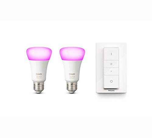 Philips Hue Pack de 2 ampoules connectées White & Color E27 +...