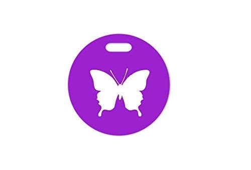 Kofferschnute Colgante Animales Mariposa Colgante para Maleta Colgante Bolso - Lila, Morado, 100 mm