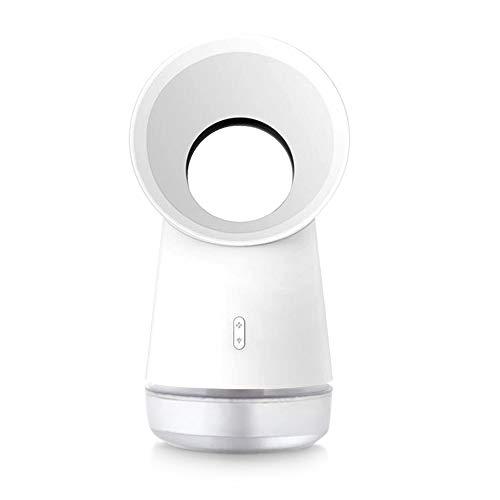 Sanvu Raffreddatore daria da tavolo Mini ventilatore a spruzzo senza lama USB Mobile Air Conditioner Luce LED 3 in 1 3 Velocità del vento Aromaterapia Funzione di umidificazione Home Office