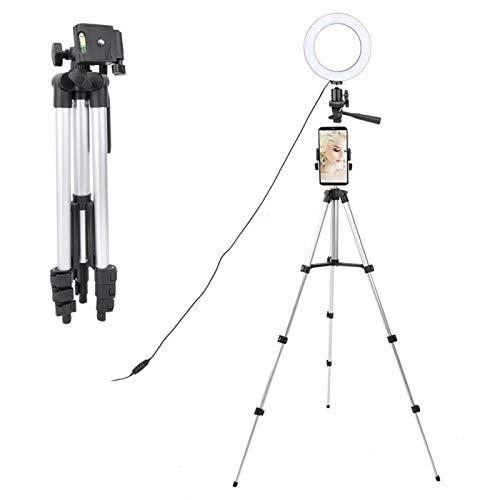 SALUTUYA Lámpara de Anillo de Video de protección del Medio Ambiente de Larga duración con Kit de luz de Anillo