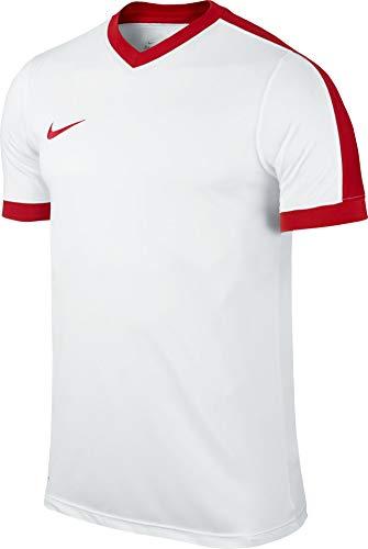 NIKE SS Striker IV JSY Camiseta del Fútbol, Hombre, Bianco_Bianco_Rosso, M