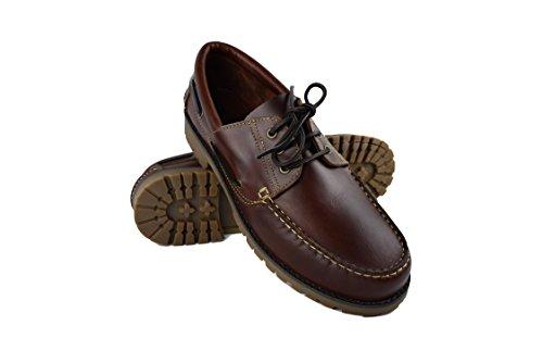 Zerimar zeilschoenen heren | Mocassin heren leder | halfhoge schoenen heren leder | bootschoenen heren