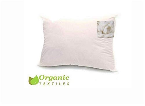 Natural Australian Wool Filled Pillow (Standard Size, Medium Fill), with 100% Organic Cotton Cover, Adjustable Loft Height, Contours to Head Neck and Shoulder for Sleeping Comfort, Hypo-allergenic
