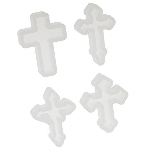 B Baosity 4 Pcs Silicone Cross Shape Pendants Charms Diy Necklaces