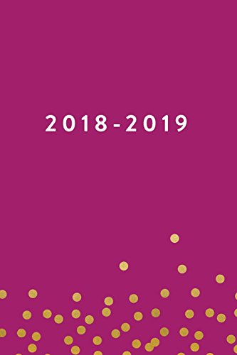 """2018-2019, 18 Month Weekly & Monthly Planner   2018-2019: Pink Confetti, July 2018 - December 2019, 6"""" x 9"""""""