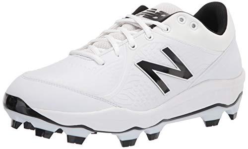 New Balance Men's 3000 V5 Molded Baseball Shoe, Synthetic White, 12.5 Wide