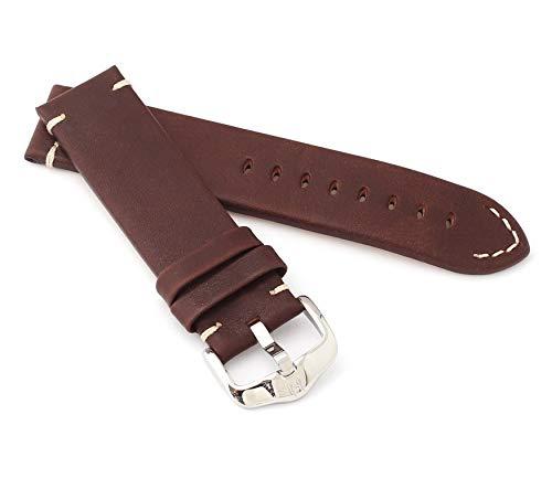 HIRSCH Herren Uhrenarmband Kalbsleder Modell Ranger 22 mm Braun